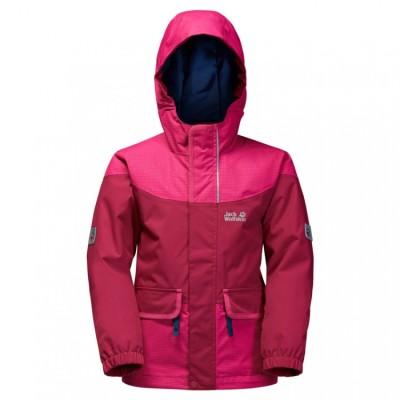 Jack Wolfskin girls' waterproof jacket