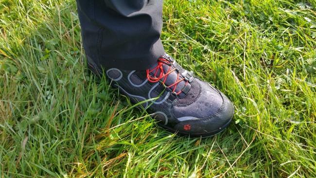 Walker wearing Jack Wolfskin walking boots
