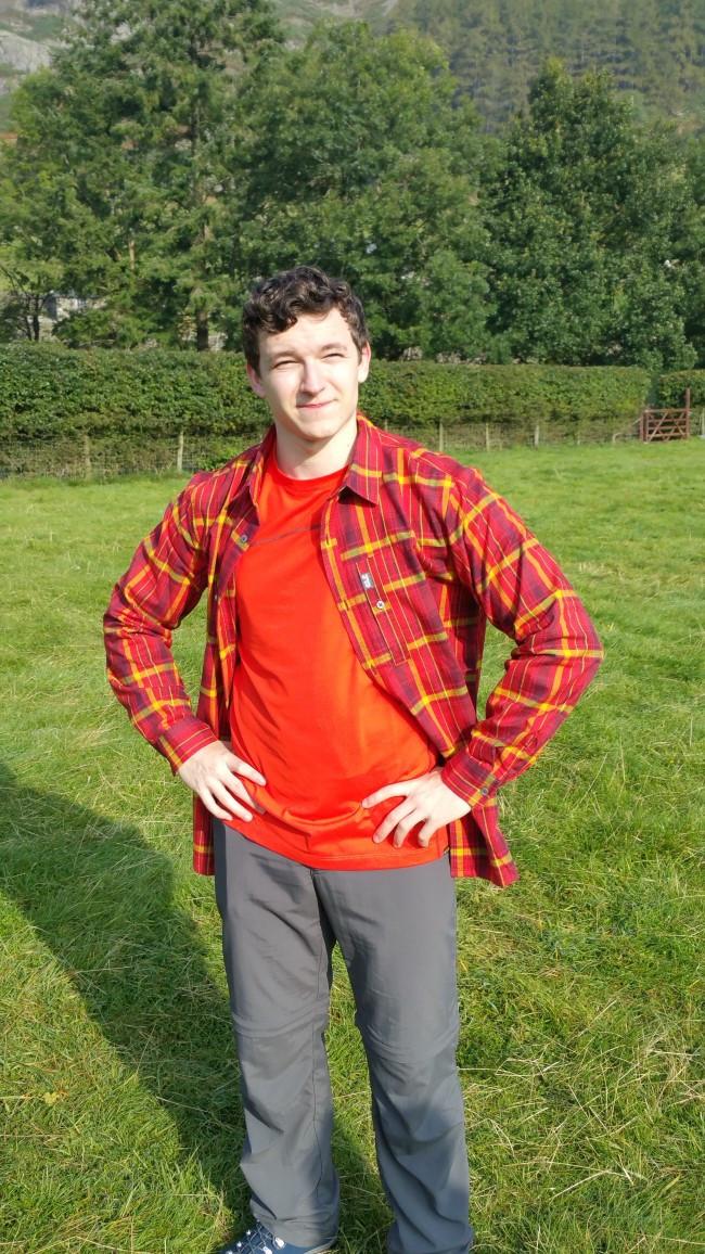 Walker wearing Jack Wolfskin clothing