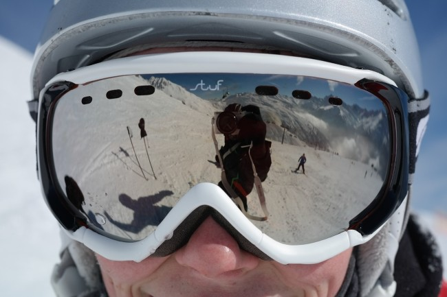 Skier taking a selife