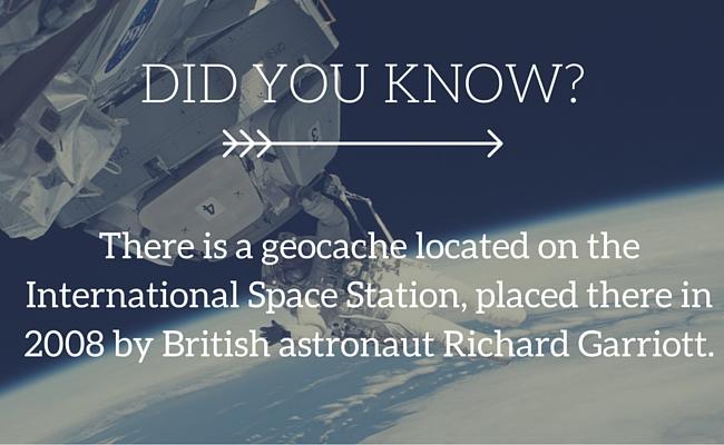 Geocache in space