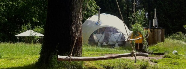 Dome garden glamping