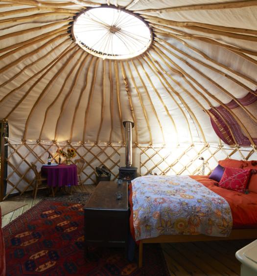 Glamping yurt in the UK