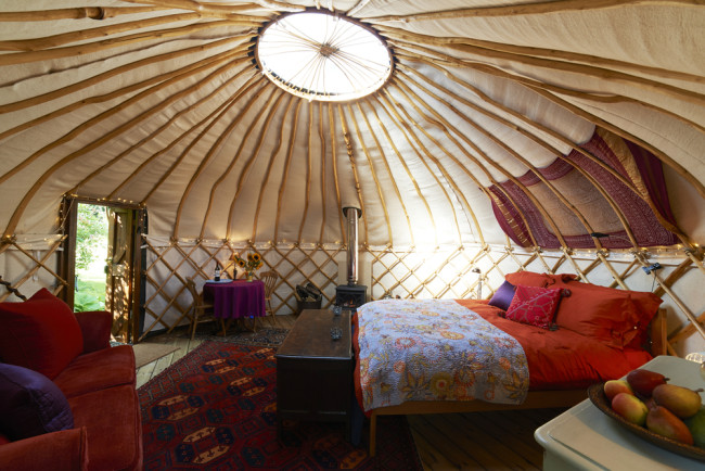 Glamping yurt in the UK