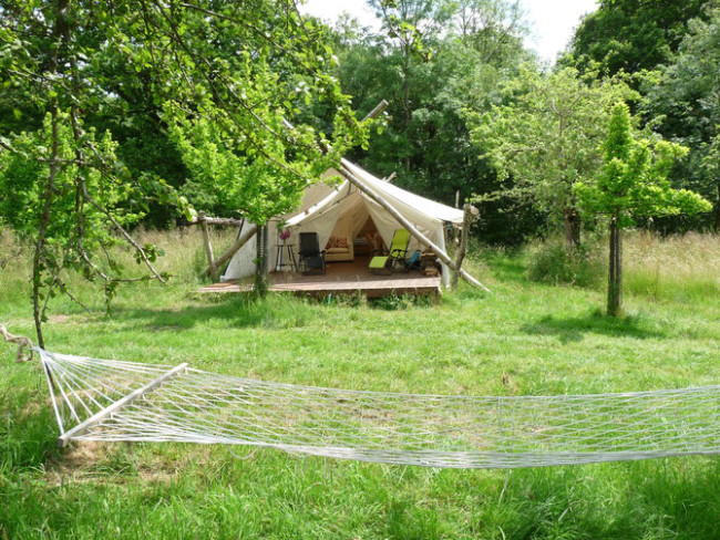 Safari glamping in Somerset