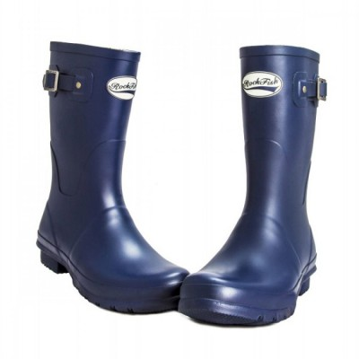 navy rockfish kids wellies