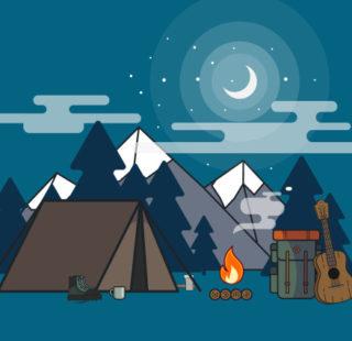 Campsite illustration