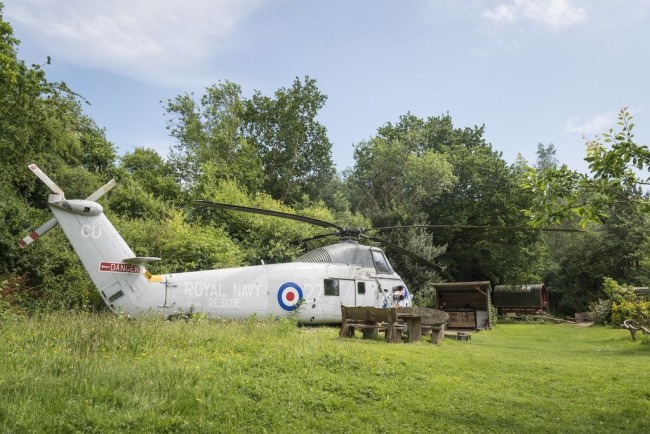 glamping helicopter blackberry wood