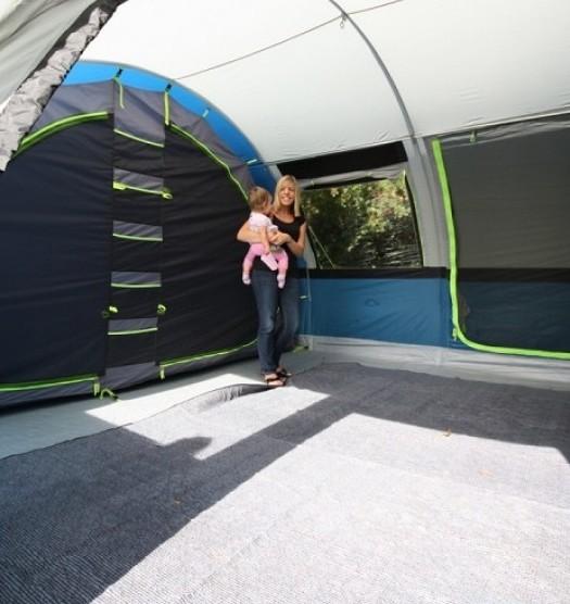 Vango tent carpet inside a tent