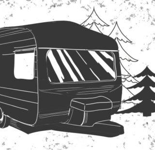 Illustration of caravan