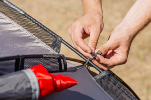 Tent pole repair