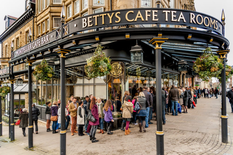 Betty's Tea Rooms in Harrogate. Yorkshire