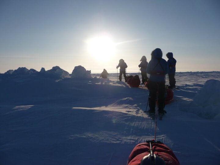 Bonita Norris at the North Pole